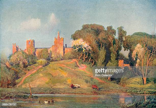 An Ancient Fort in Suffolk' circa 1899 From The Studio Volume 47 Artist Frederick George Cotman