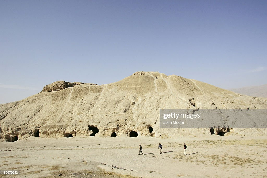 An ancient wall on October 12 2006 at Balkh Afghanistan The French Archaeological Delegation to Afghanistan is excavating in the area searching for...