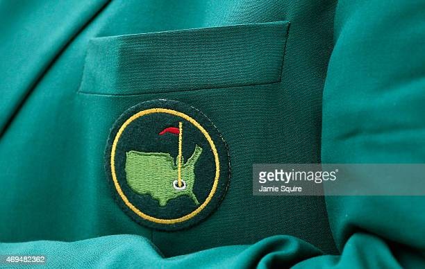 An ANGC member's jacket is seen near the clubhouse during the final round of the 2015 Masters Tournament at Augusta National Golf Club on April 12...