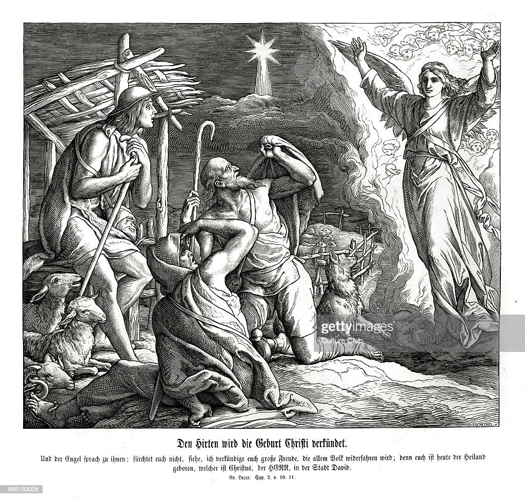 an angel appears to the shepherds pictures getty images