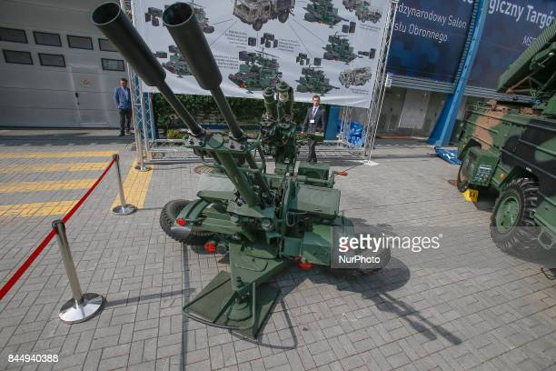 An anti aricraft system is seen at the 25th International Defence Industry Exhibition on 8 September 2017