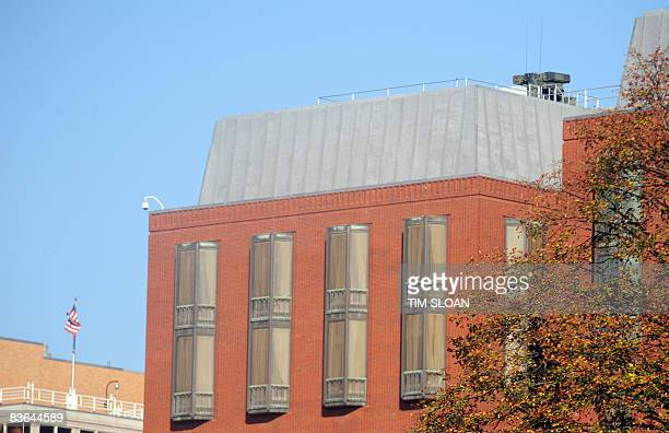 An antiaircraft battery sits atop the New Executive Office Building across the street from the White House November 11 2008 in Washington DC AFP...