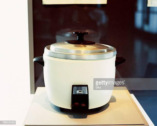 An antique rice cooker