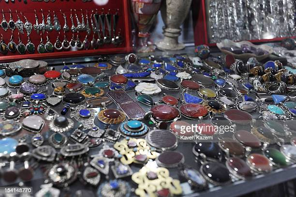 An antique shop selling gems in Chicken Street on October 17 2011 in Kabul Afghanistan Chicken Street has been a focus for Afghanistan's tourists...