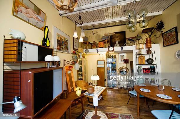 An antique store in SaintOuen flea market on February 8 outside Paris France The Paris Flea Market opened in 1885 Located in a popular district it...