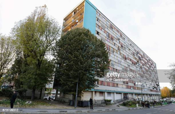 An apartment building part of the Chene Pointu housing estate is pictured on November 13 in ClichysousBois northern Paris / AFP PHOTO / ludovic MARIN