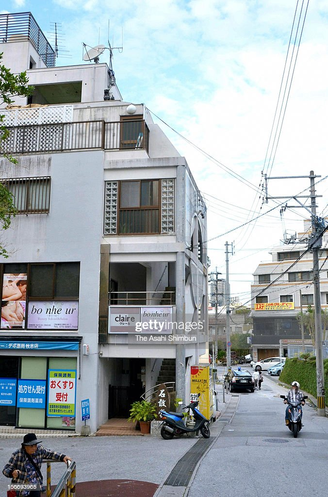 An apartment house where U.S. Marine Corps first lieutenant Tomas Chanquet was arrested for breaking into home of a local resident is seen on November 18, 2012 in Naha, Okinawa, Japan. Another trespassing by a drunken serviceman during the curfew escalates anti-U.S. military sentiment following recent crimes in Okinawa.