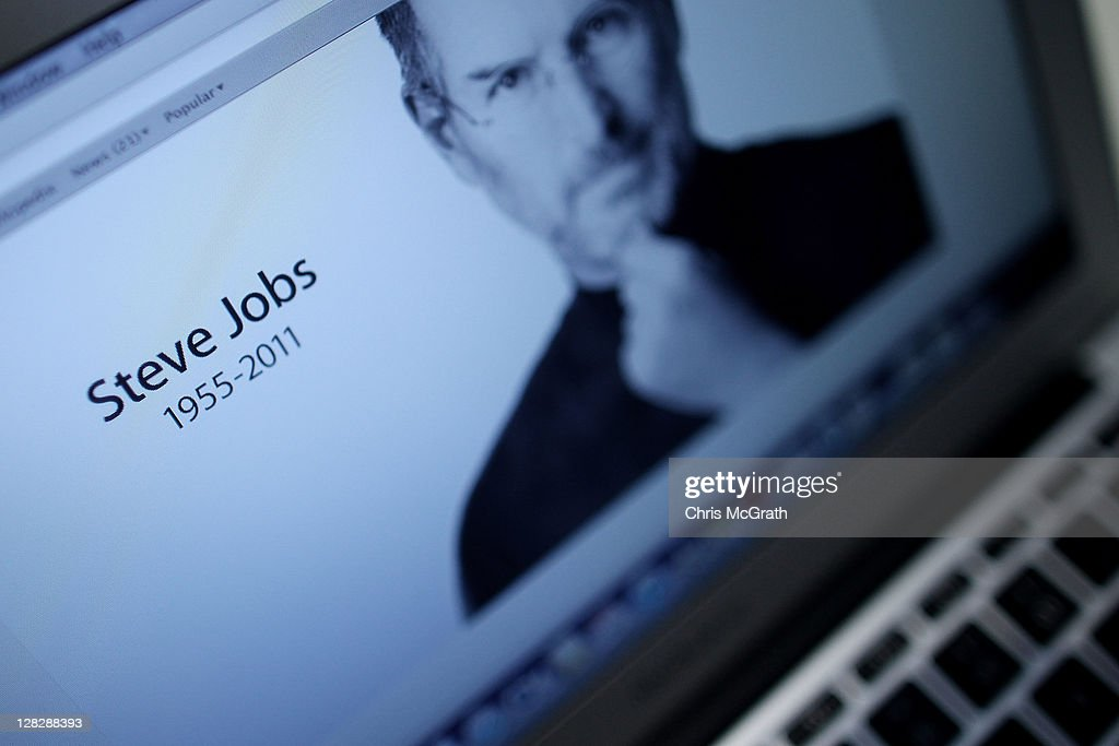 An Apple computer showing the Apple website displays a tribute to Steve Jobs, co-founder and former chief executive officer of Apple, at a store in Marina Bay Sands, Singapore on Thursday, Oct. 6, 2011. Jobs, 56, passed away after a long battle with pancreatic cancer. Jobs co-founded Apple in 1976 and is credited, along with Steve Wozniak, with marketing the world's first personal computer in addition to the popular iPod, iPhone and iPad.
