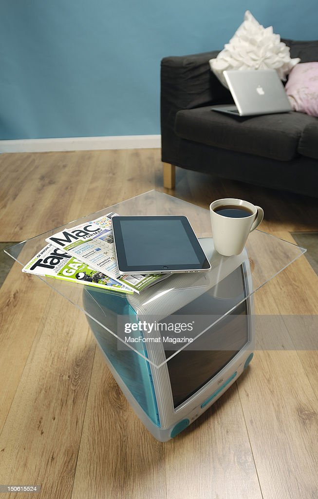 An Apple iMac G3 converted into a coffee table, session for MacFormat Magazine taken on June 22, 2011.