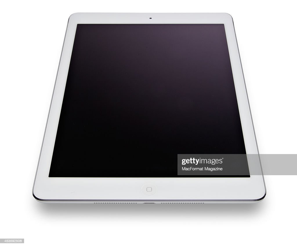 An Apple iPad Air photographed on a white background, taken on November 6, 2013.