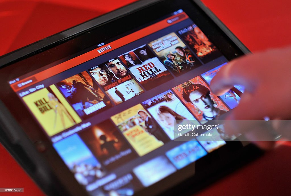 An Apple Ipad is used to view Netflix during the Netflix UK launch in London, England on January 9, 2012. Netflix the leading global internet subscription service for films and TV programmes, launches today in the United Kingdom and Ireland, offering instant and unlimited access to a broad range of entertainment for the low monthly price of £5.99 in the UK and €6.99 in Ireland.