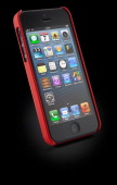 An Apple iPhone 5 with a Pong Classic Soft Touch Case case photographed on a black background taken on March 7 2013