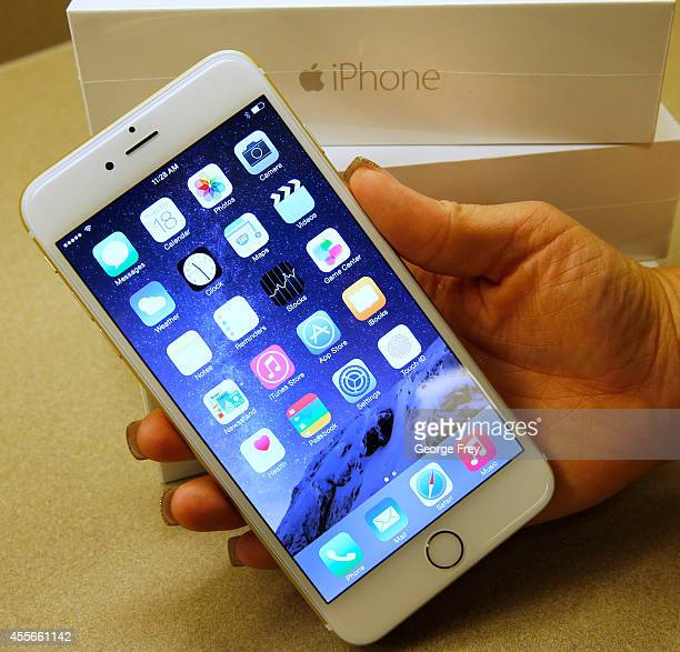 An Apple iPhone 6 Plus gold is shown here at a Verizon store on September 18 2014 in Orem Utah Apples new iPhone 6's go on sale tomorrow September 20...