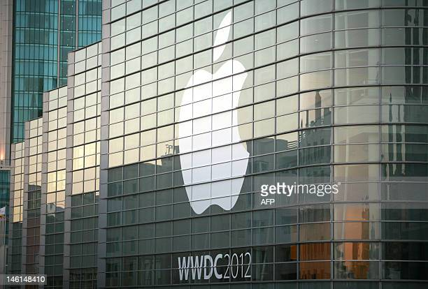 An Apple logo is seen as Apple will host its annual developers conference WWDC 2012 between June 11 and 15 at Moscone Center in San Francisco on June...