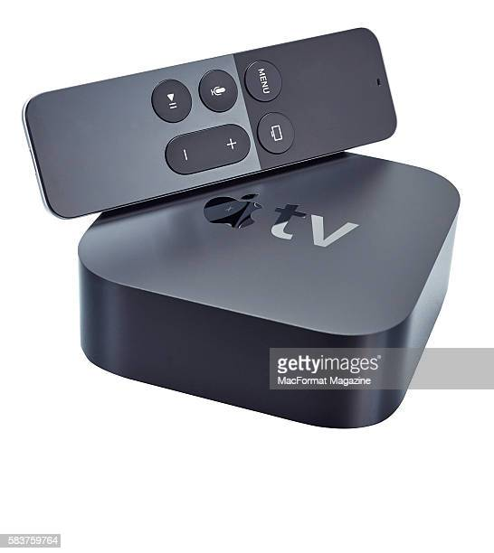 An Apple TV device and remote control taken on November 4 2015