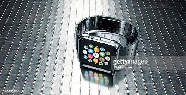 An Apple Watch smartwatch taken on March 4 2015