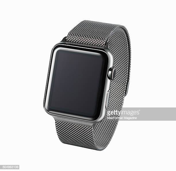 An Apple Watch with a Milanese Loop taken on May 8 2015
