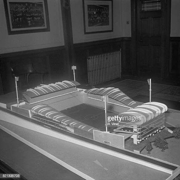 An architectural model for a possible future stadium for Wolverhampton Wanderers FC Wolverhampton 6th August 1958
