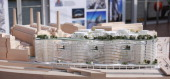 An architectural model shows Phase Three of the development of Battersea Power Station on April 10 2014 in London England The Power Station...