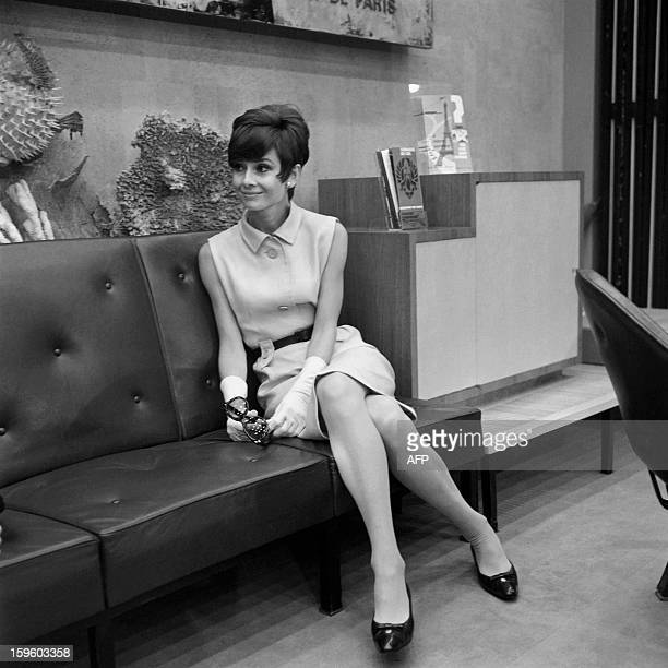 An archive photo taken on August 23 1965 shows British actress Audrey Hepburn arriving at Orly airport AFP PHOTO