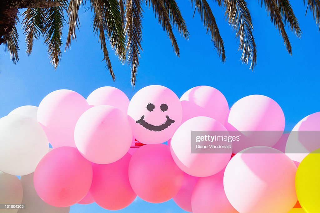 An archway of balloons : Stock Photo