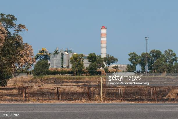 An area close to a gas refinery and to the streets of the industrial area is burnt due to the fires that are hitting the city on August 03 2017 in...