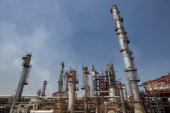 An area of the Petroleos Mexicanos Miguel Hidalgo oil refinery stands in Tula de Allende Mexico on Thursday March 25 2010 Pemex Latin America's...