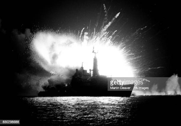 An Argentinian bomb explodes on board the Royal Navy frigate HMS Antelope killing the bomb disposal engineer who was trying to defuse it