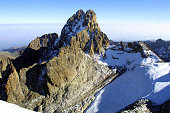 An arial view of Mount Kenya dated 22 July 2003 where 12 US tourists and two South African pilots perished on Saturday when their light aircraft...