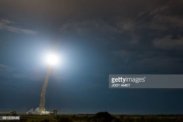 CORRECTION An Ariane 5 rocket lifts off from the French Guiana Space Center with two satellites onboard ViaSat2 built by Boeing Satellite Systems for...
