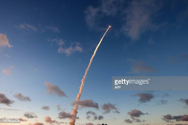 An Ariane5 rocket blasts off on July 5 from the European space centre at Kourou French Guiana An Ariane5 rocket placed two telecommunications...