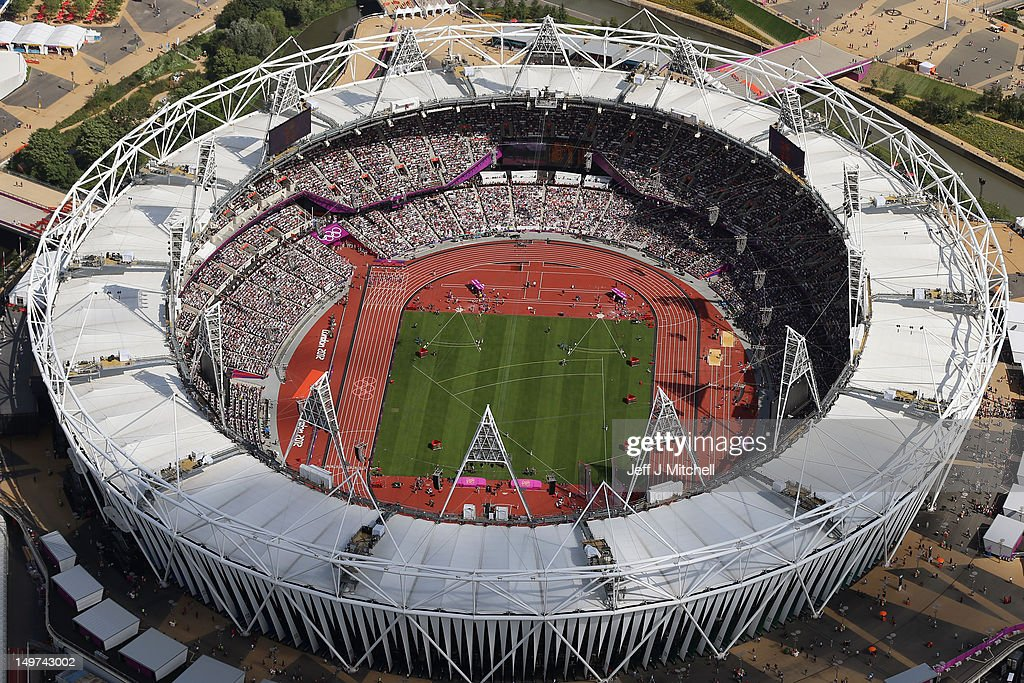 An Ariel View Of The Olympic Stadium On Day 7 London 2012 Games