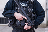 An armed Police Officer in London, England