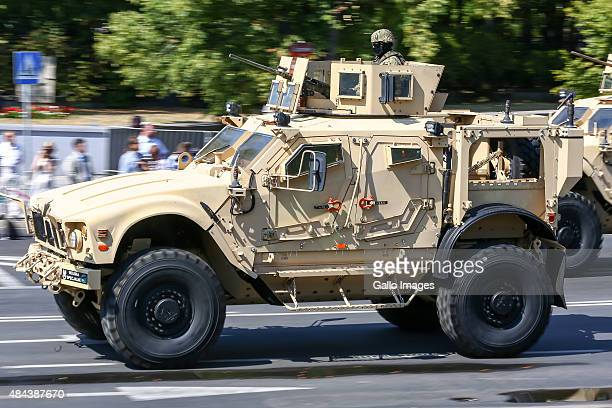 An Armoured Car Oshkosh MATV during the military parade during the Armed Forces Day on August 15 2015 at Warsaw Poland Armed Forces Day is a national...