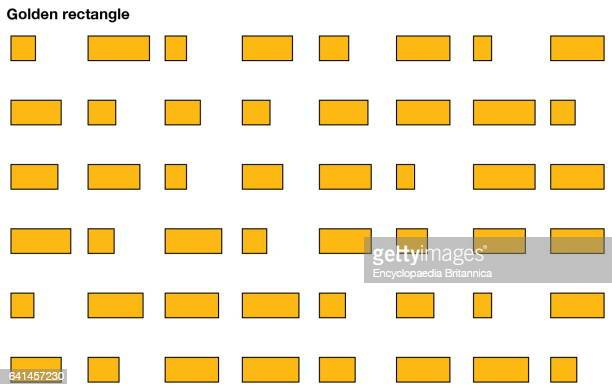 An array of golden rectangles in which one is a true golden rectangle geometry mathematics