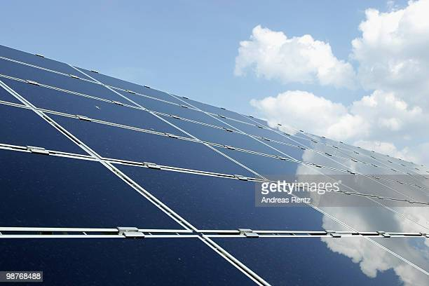 An array of photovoltaic solar panels at the Berliner Wasserbetriebe are seen on April 30 2010 in Berlin Germany Germany has invested heavily in...