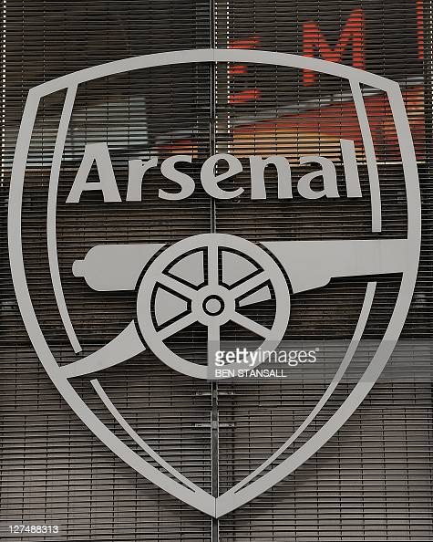 An Arsenal sign is pictured at the Emirates Stadium in London on April 11 2011 US sports tycoon Stan Kroenke has taken a controlling stake in Arsenal...