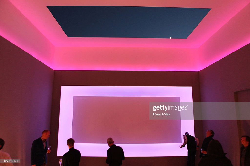 An art installation by artist James Turrell during a VIP tour of the Jarl Mohn art collection at his home on October 1 2011 Los Angeles California