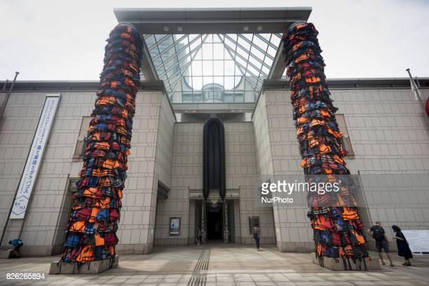 An art work created by Chinese Ai Weiwei a contemporary artist and activist is on display during Yokohama Triennale 2017 at Yokohama Art Museum in...