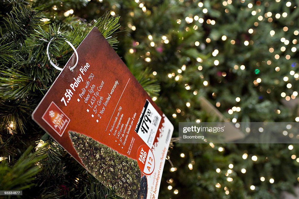 Home Depot Trims Artificial Christmas Tree Inventory Photos And  - Christmas Trees In Home Depot