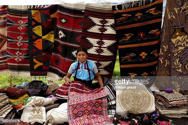 An artisan market selling tradition al goods at San Cristobal de las Casas in Chiapas
