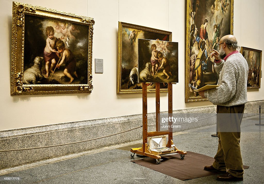 An artist copies from one of the old masters Prado museum