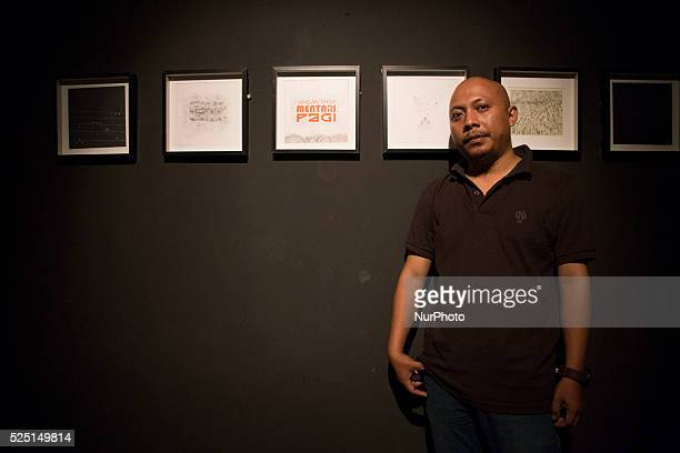 an artist participant with his work at the exhibition Indonesia National Gallery at Jakarta held an exhibition called quotRuang Baruquot from 23...