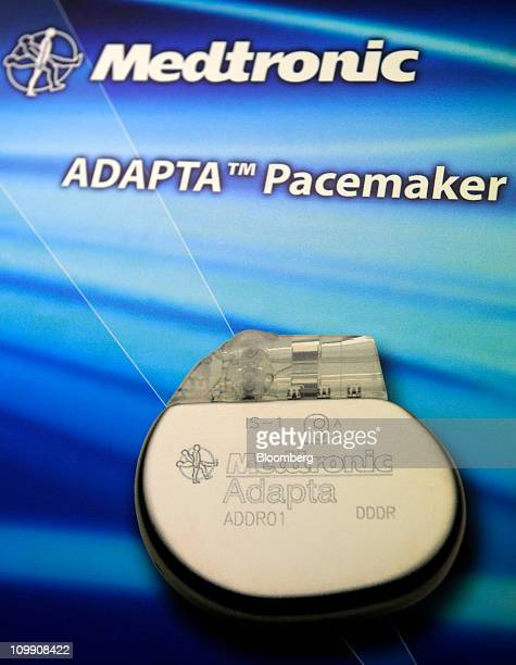 An artist's illustration shows the Medtronic Inc Adapta heart pacemaker that is produced at Medtronic Singapore Operations the company's new...