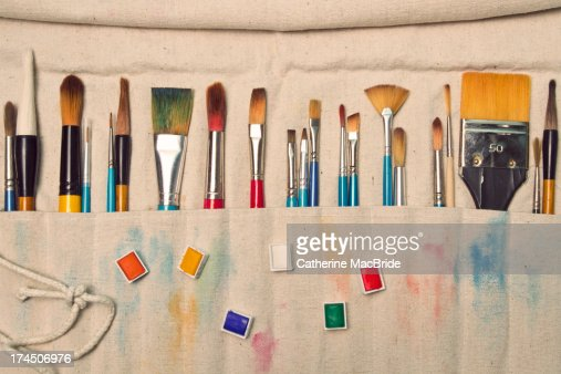 An artists tools : Stock Photo