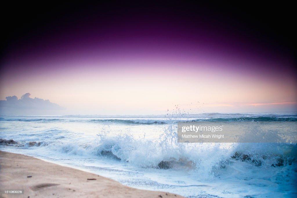An artsy look at beach shorebreak. : Stock Photo