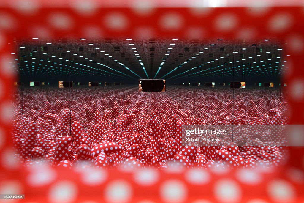 An artwork installation titled 'Mirrored Room' by artist Yayoi Kusama is on display at Marina Bay Sands Expo and Convention Centre on January 20, 2016 in Singapore. The contemporary art fair, featuring works from 143 galleries from 32 countries and 30 global cities will run from January 21 to 24, 2016.