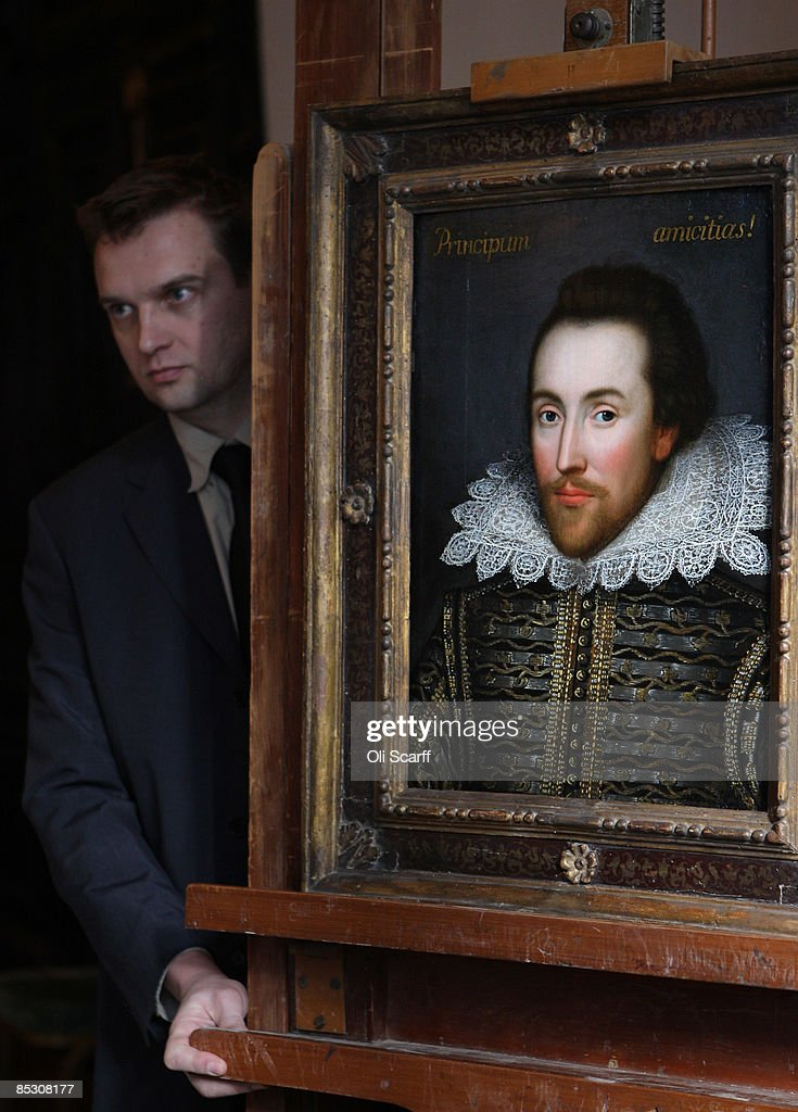 An assistant manoeuvres a painting of William Shakespeare which is believed to be the only authentic image of Shakespeare made during his life on March 9, 2009 in London, England. The recently discovered painting, which is believed to date from around 1610, depicts Shakespeare in his mid-forties. The portrait is due to go on display at The Shakespeare Birthplace Trust in Stratford-upon-Avon on April 23, 2009.