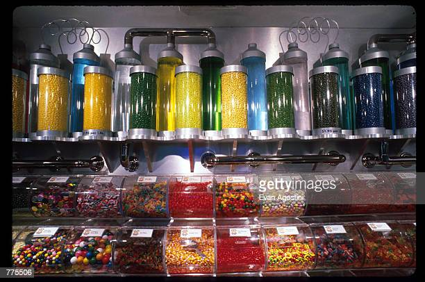 An assortment of candy is on display at the Warner Bros Studio store October 23 1996 in New York City The store originally a three floor specialty...