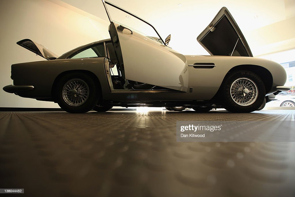 An Aston Martin DB5 sits in the new 'Heritage' Showroom' in Hammersmith on February 1, 2012 in London, England. The showroom is the UK's first high street 'Heritage' showroom specialising in vintage and classic Aston Martin cars, and opens to the public on February 2, 2012.